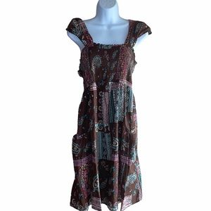 Pure Energy Brown Patterned Dress